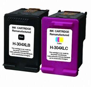 Remanufactured 304 XL Black & Colour Ink Cartridge Combo fit HP Deskjet 2632