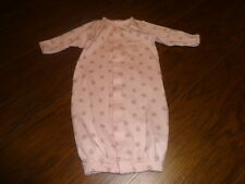 BOUTIQUE MAGNOLIA BABY NB NEWBORN PINK MONKEY GOWN OUTFIT