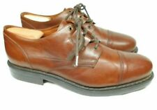 Bacco Bucci Brown Leather Cap Toe Derby Shoes Made In Italy Men's 12