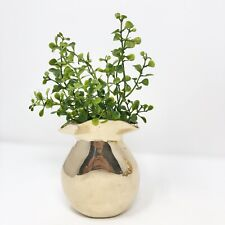 Vintage Brass Flower Vase Moneybag Design