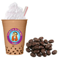 NEW TASTE ! Coffee Boba Tea Kit: Tea Drink Mix Powder, Tapioca Pearls & Straws