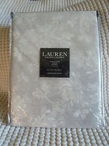 Ralph Lauren CHRYSANTHEMUM FLOWER Beige Oblong Oval Tablecloth 60 x 110 NWT