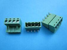 240 pcs 5.08mm Close Angle 4 pin Screw Terminal Block Connector Pluggable Green