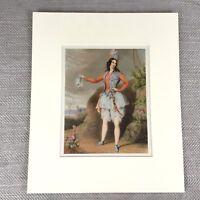 1900 Antique Ballet Print Opera Music Dancer Victorian Fashion