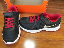 New Nike Revolution 2 PSV Shoes BOYS Size 3Y Black Red Silver 555083-020 $52