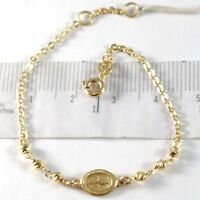 Armband Gelbgold 750 18K, Rolo, Kugeln Facettiert Medaille Wundertätige
