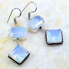 """2"""" X61852 Milky Opalite Earrings"""