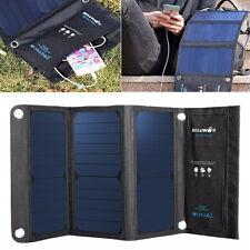 BlitzWolf 20W 3A Foldable Portable Solar Sun Charger USB Dual Port W/ Power 3S