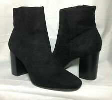 H&M Boots Womens Size 7 US Round Toe Black Shoes