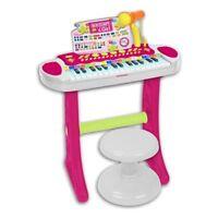 PIANOLA TASTIERA ELETTRICA 31 TASTI CON SGABELLO MICROFONO MP3 I GIRL BONTEMPI