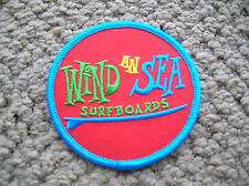 vintage wind an sea surfing surfboard jacket patch california longboard san dieg