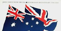 1988 AUSTRALIA STAMP PACK 'JOINT ISSUE WITH THE UK, AUST BICENTENARY'  MNH