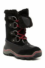 New Pajar  Womens Alina black Leather Snow Boots  size 8-8.5 EUR 39