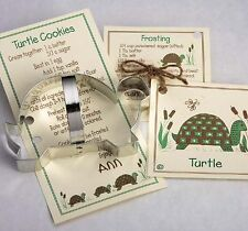 Ann Clark Tin Turtle Cookie Cutter w/ Cookie & Frosting Recipe Made in the USA