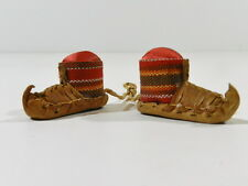 Antique Pin Cushion Sewing Leather Moccasins Serbia 1920 - 1930