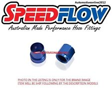 "Speedflow -8 AN8 Female to 1/2"" Hard Fuel Line Fitting TUBE NUTS & SLEEVES BLUE"