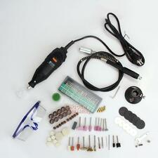 142pcs 220V Mini Electric Drill Rotary Tool DIE Grinder Power Tools Kit EU Plug
