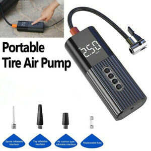 Portable Air Compressor Tire Air Pump W/LCD Digital Display For Car/Bicycle