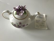 More details for royale stratford the country cottage teapot collection ~ sweet violets ~