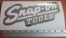Snap on Classic decal in Premium Metallic silver vinyl 10 inch sticker
