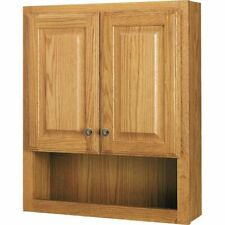 Style Selections 23.25-in W x 28-in H x 7-in D Oak Bathroom Wall Cabinet New