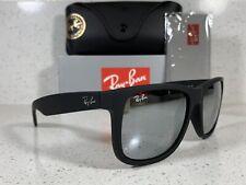 New Ray-Ban Justin Mix Wayfarer RB4165 622/6G Black/Silver 54mm