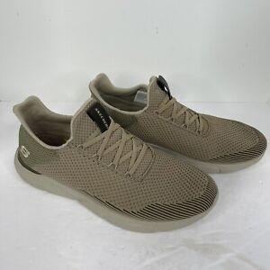 Skechers  Men's Shoes Memory Foam Goga Mat Arch Air Cooled Size 13 tan