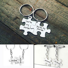 New 2pcs Puzzle You're My Person Key Ring Chain Keychain Lover Couples Keyring