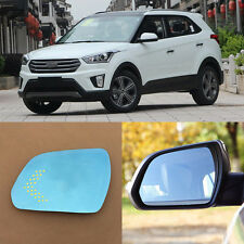 Rearview Mirror Blue Glasses LED Turn Signal Power Heating For Hyundai IX25