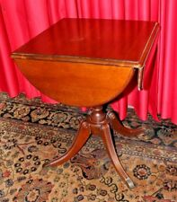 VINTAGE DUNCAN PHYFE MAHOGANY DROP LEAF SIDE TABLE