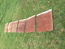 "12 pieces of Vintage Metal Corrugated Tin 26"" x 24"""