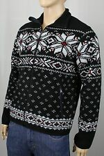 Polo Ralph Lauren Black Mock Neck Snowflake Zip Jacket Coat NWT $185