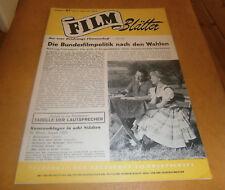 FILM Blätter Nr. 37 (1953) ,Berlin,Cover WALTER MÜLLER,IDA KROTTENDOR