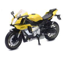 New Ray 1:12 Yamaha YZF R1 Modelo Juguete Moto Motocicleta Amarillo Blanco