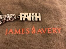 James Avery Sterling Silver Faith Cross Charm Pendant Necklace