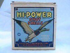 1 VINTAGE EMPTY FEDERAL HI-POWER SHOTGUN SHELL BOX