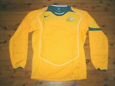 AUSTRALIA SOCCEROOS 2004/2005 PLAYER RARE LS NIKE HOME SHIRT JERSEY M - L