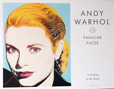 WARHOL FAMILIAR FACES PORTFOLIO 6 PRINTS MARILYN, LIZ, GRACE, INGRID, MICK ANDY