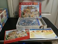 Ravensburger 1000 piece jigsaw puzzle -Upstairs, Downstairs - Complete