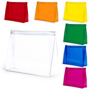 Transparent Travel Wash Bag Toiletry Organiser Ladies Women Make Up Pouch Case