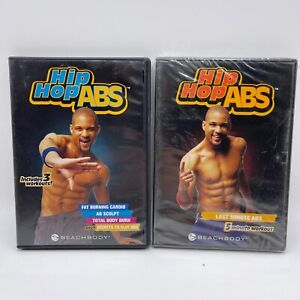 Hip-Hop Abs Fat Burning Cardio/AB Sculpt/Total Body Burn 3 DVD Lot with Bonus
