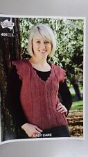 Heirloom Knitting Pattern #406 Ladies Vest  to Knit in 8 Ply