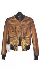 Dolce&Gabbana, D&G Lamb Leather Bomber Jacket Size 38