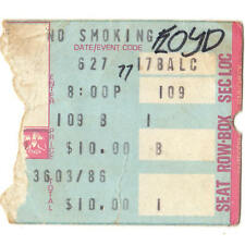 PINK FLOYD Concert Ticket Stub BOSTON GARDEN 6/27/77 IN THE FLESH TOUR Rare