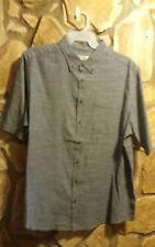 Mens Faded Glory Big/Tall size LG XL 2XL Denim Look Short Sleeve ButtonUp Shirt