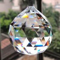 20mm 0.8in Clear Glass Crystal Ball Prism Lamp Lighting Pendant Decor E