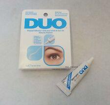 0,25 OZ DUO False Eyelash Glue Adesivo chiaro 7G IMPERMEABILE / occhi ciglia make up