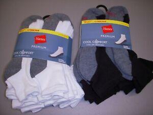 Hanes Premium Cool Comfort 12-Pack Cushion Ankle Socks Men's 6-12, Choose Color