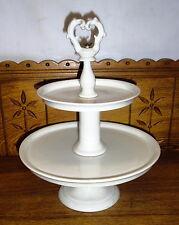 Antique Old Paris Porcelain Two Tier Dessert Serving Dish
