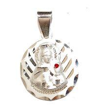 Santa Barbara .925 Sterling Silver Round Medal Plata .925 Santa Barbara Chango